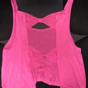 Open Back Pink Crop Top